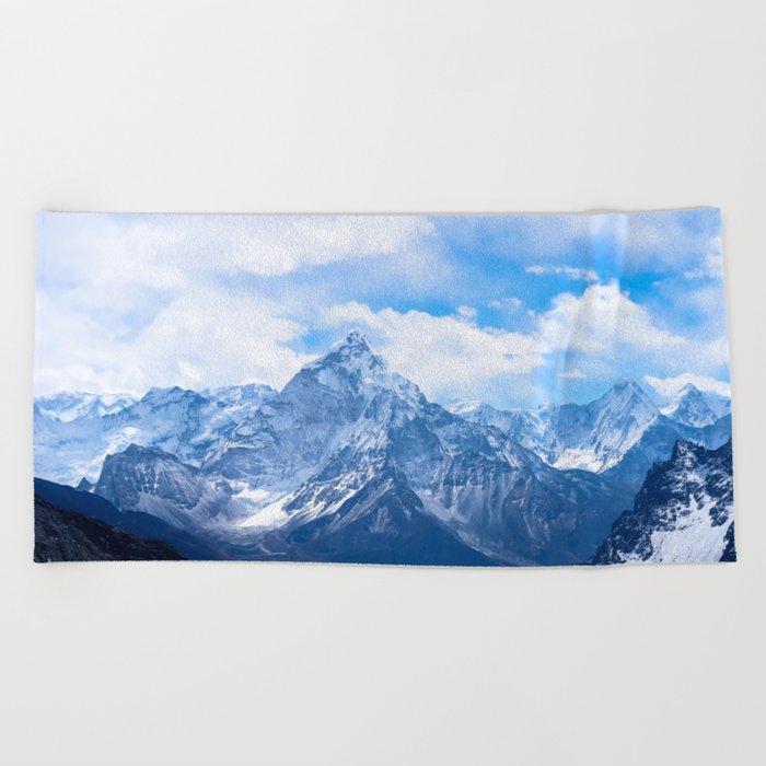 Mountains on My Mind Beach Towel