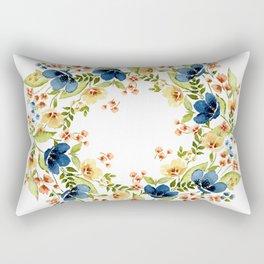 Fall into Blue Rectangular Pillow