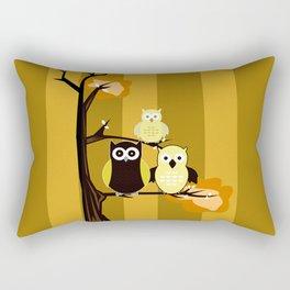 Yellow Owls Rectangular Pillow