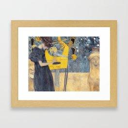 Music, Gustav Klimt, 1895 Framed Art Print