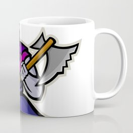 Hooded Medieval Executioner Mascot Coffee Mug