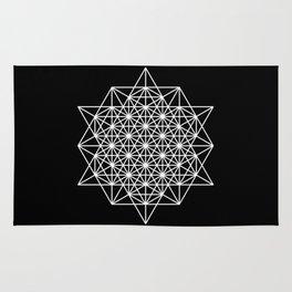 White star tetrahedron Rug