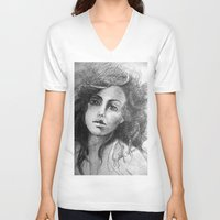 jessica lange V-neck T-shirts featuring Jessica by Judy Hung