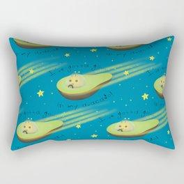 Avacado in Space Rectangular Pillow