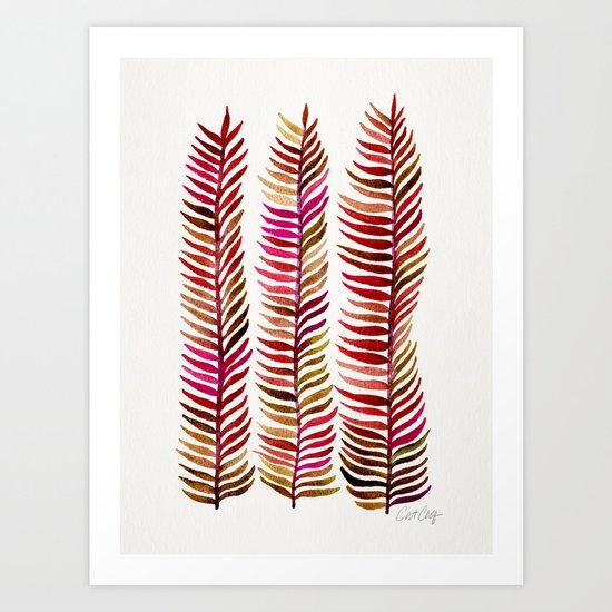 Red Stems Art Print