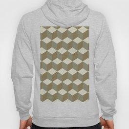 Diamond Repeating Pattern In Meerkat Brown and Grey Hoody