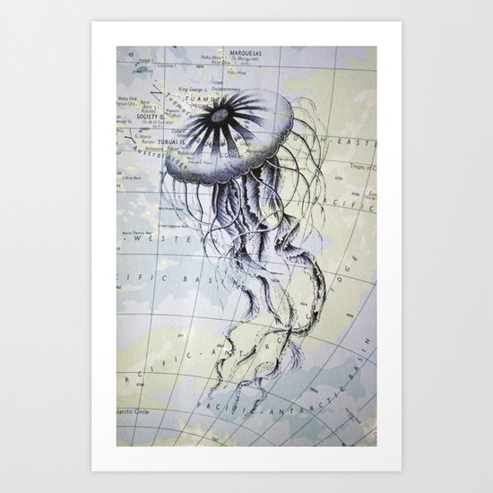 Jellyfish in the South Pacific Art Print