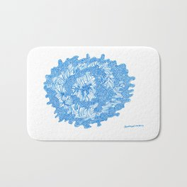 March's Blue 8 | Artline Drawing Pens Sketch Bath Mat