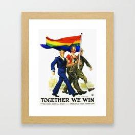 Together We Win! Framed Art Print