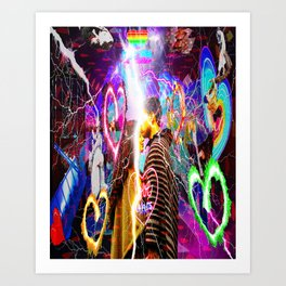 Electric Love Art Print