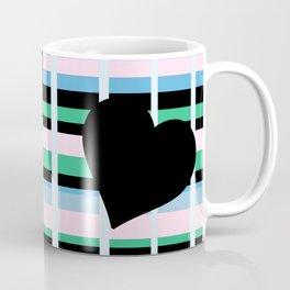 Three Black Hearts - Blue Green Coffee Mug