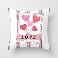 Bright hearts.Love , Valentine's day Throw Pillow