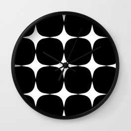 Retro '50s Shapes in Black and White Wall Clock