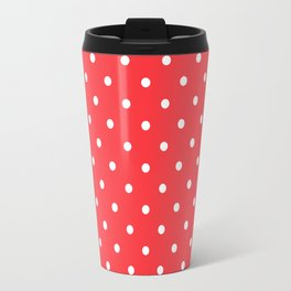 Tomato Red Polka Dots Travel Mug