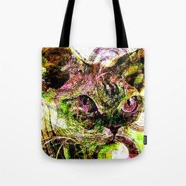 digital cat Tote Bag