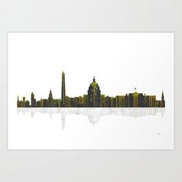 Washington DC Skyline BW 1 Art Print