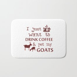 Coffee & Goats Bath Mat