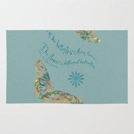 """Butterflies like Flowers - """"Painted"""" Rug"""