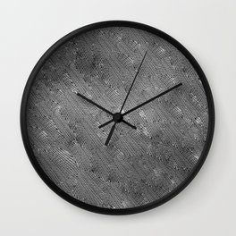 Vortex Footprints b n w Wall Clock