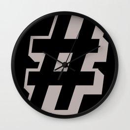 Big Hashtag Wall Clock