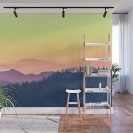 Calm Yellow Sunset Wall Mural