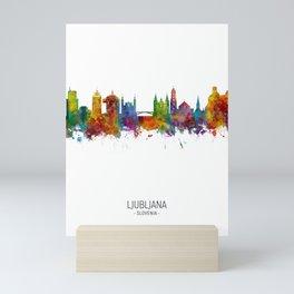 Ljubljana Slovenia Skyline Mini Art Print