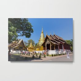 Chiang Mai Temples Metal Print