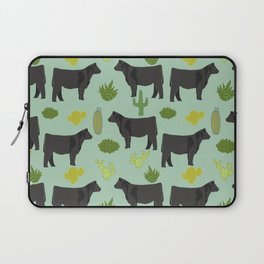 Cattle breed cactus farm gifts homestead art cow illustration Laptop Sleeve