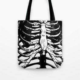 Skeleton Ribs | Black and White Tote Bag