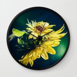 Sunflower At Sunrise Wall Clock