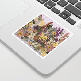 Pressed Flower English Garden Sticker