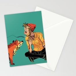 pet the dog Stationery Cards