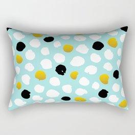 pois noirs blancs or Rectangular Pillow
