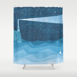 Lighthouse illustration Shower Curtain