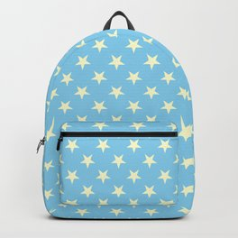 Cream Yellow on Baby Blue Stars Backpack
