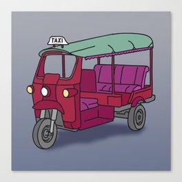 Red tuktuk / autorickshaw Canvas Print