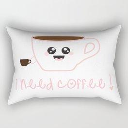 I Need Coffee! Rectangular Pillow