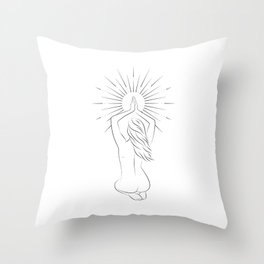 Woman with the Sun Throw Pillow
