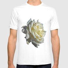 White Rose Mens Fitted Tee MEDIUM White