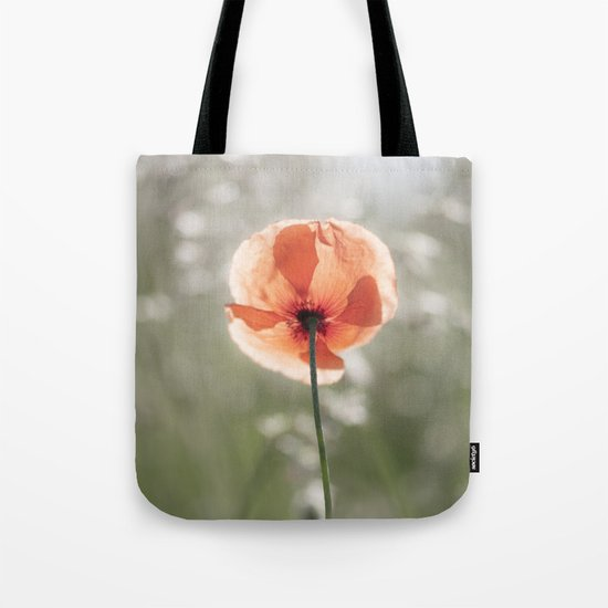 Poppy at backlight - Poppies Blossom Flower Floral Tote Bag