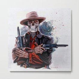 The Gunslinger (dia de los muertos) Metal Print