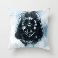 dark side Throw Pillows featuring Dark Side by ErDavid