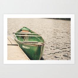Canoe on the Lake Art Print