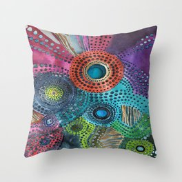 Harp's Garden Throw Pillow