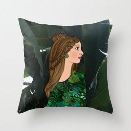 Bibi and the Botanic Garden Throw Pillow