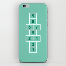 Hopscotch Mint iPhone Skin