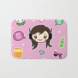 Cute Robot Lady Bath Mat
