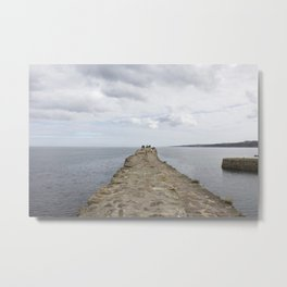 Sea wall St. Andrews Metal Print