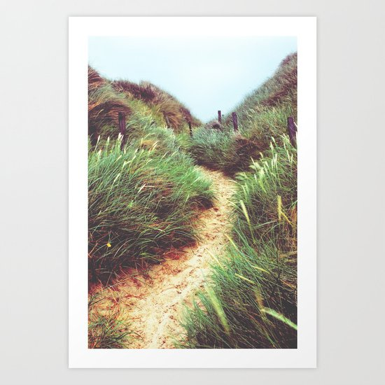 the way through the dunes Art Print
