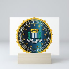 FBI Seal Mockup Mini Art Print